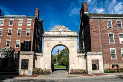 Entrance to Brown University, Providence, RI. Stock Photography
