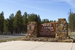 Entrance to Bryce Canyon National Park Royalty Free Stock Image