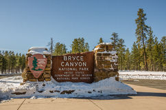Entrance to Bryce Canyon National Park Sign Stock Images