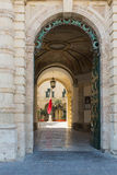 The entrance to Buckingham Palace in Valetta Malta Royalty Free Stock Images
