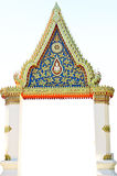 Entrance to Buddhist temple Royalty Free Stock Images