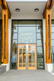 Entrance to a building. Entrance of a house building in Vancouver, Canada Royalty Free Stock Photo