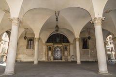 Entrance to the building Palazzo Loggia Stock Photos