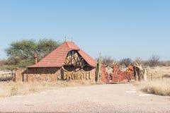 Entrance to Busch Hotel on the B2-road near Okahandja Stock Photography