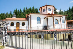 Entrance to the Business Compound in the monastery of Saint Panteleimon in the Rhodopes Stock Photos