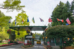 Entrance to Butchart Gardens, Victoria, BC, Canada Royalty Free Stock Photography