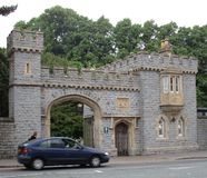 Entrance to Bute Park. In Cardiff, Wales Royalty Free Stock Images
