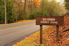 Entrance to Cades Cove Stock Photo
