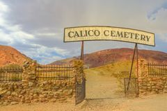 Calico Cemetery Ghost Town stock image