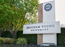Entrance to Campus of Brigham Young University. Royalty Free Stock Photos