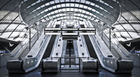 Canary Wharf Tube Station Stock Photos
