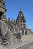 Entrance to Candi Siwa with Candi Brahma in the background Stock Photography