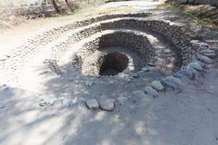 Cantalloc aqueduct, Peru Stock Images