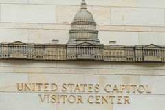 The entrance to the Capitol Visitor Center. United States Capitol Visitor Center in Washington DC Royalty Free Stock Images