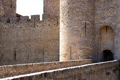 Entrance to Carcassonne Stock Photography