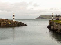 Entrance to Carnlough Harbour Royalty Free Stock Photo