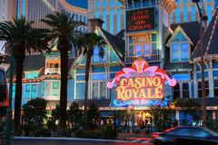 Entrance to Casino Royale  hotel Royalty Free Stock Photos