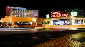 Entrance to Casino Vilamoura, Vilamoura, Algarve, Portugal royalty free stock photography