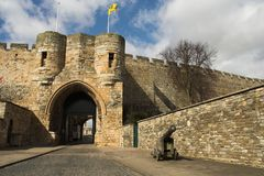 Entrance To The Castle. Entrance to the Lincoln Castle, England Stock Photo