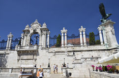 Entrance to the Castle Budapest. Royalty Free Stock Photo