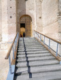 Entrance to the castle of la mota Stock Image