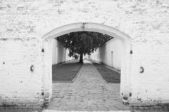 Entrance to the castle stock photography