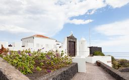 The entrance to the Castle of the Virgin. The castle is in Santa Cruz on the Spanish island of La Palma Stock Image