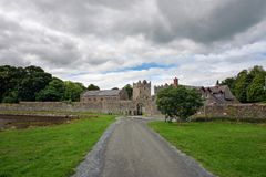 Entrance to the Castle Ward in Northern Ireland stock photo