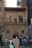 At the entrance to Catedral de Mallorca Royalty Free Stock Photo