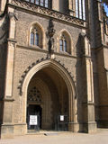 Entrance to the cathedral. Of St. Barbara from Kutna Hora. Czech Republic Stock Images