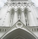 Entrance to a Cathedral. Entrance to St Andrew Cathedral, Singapore stock photography