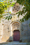 The entrance to the Cathedral. The ancient wall of the Church building Royalty Free Stock Photography