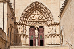 Entrance to the Cathedral in Burgos, Spain Royalty Free Stock Photo