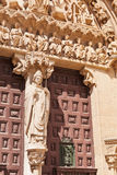 Entrance to Cathedral in Burgos, Spain Stock Photos
