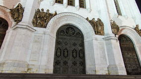 Entrance to Cathedral of Christ Saviour stock video footage