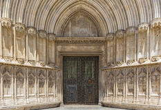 Entrance to the Cathedral of Girona. Spain stock photo