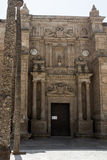 Entrance to the Cathedral of the Incarnation in Almeria Spain Royalty Free Stock Image