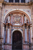 Entrance to the Cathedral in Malaga, Spain Royalty Free Stock Photo