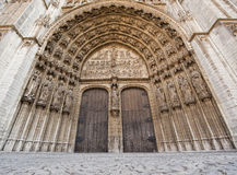 Entrance to the Cathedral of Our Lady in Antwerp, Belgium Royalty Free Stock Photo