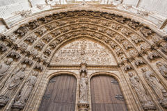 Entrance to the Cathedral of Our Lady in Antwerp, Belgium Royalty Free Stock Photography