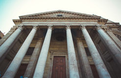 Entrance to Cathedral Saint Pierre in Geneva, Swit Royalty Free Stock Photo