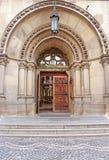 Entrance to Cathedral of Saints Olga and Elizabeth, Lviv, Ukraine stock photography