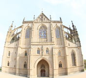 Entrance to Cathedral of St. Barbara Royalty Free Stock Image