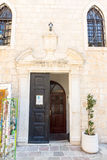 Entrance to the Cathedral of St. John in the old Budva, Montenegro Stock Photo