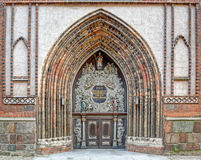 Entrance to the Cathedral St. Nikolai in Stralsund Royalty Free Stock Photography