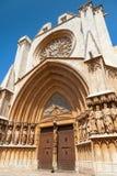 Entrance to Cathedral of Tarragona Royalty Free Stock Photos