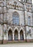 Entrance to Catholic church. Stock Images