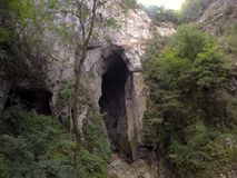 Entrance to a cave royalty free stock image