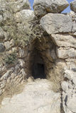 Entrance to cave at Mycenae Royalty Free Stock Photography