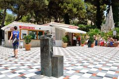 The entrance to the Cave.  Nerja. Span Royalty Free Stock Photography